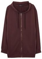 Blk Dnm Bordeaux Hooded Cotton Sweatshirt