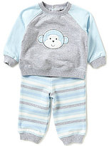 Little Me Baby Boys 3-12 Months Monkey Sweatshirt and Striped Pants Set