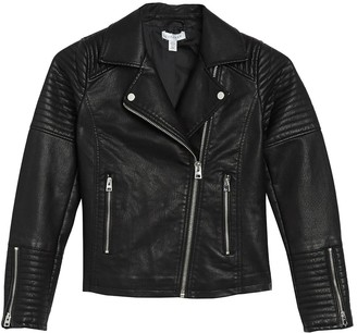 Topshop Rosa Faux Leather Biker Jacket