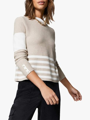 Mint Velvet Colour Block Jumper, Neutral