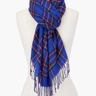 Talbots Cheery Plaid Oblong Scarf