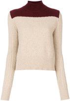 Marni bi-colour roll neck sweater - women - Polyamide/Wool/Alpaca - 40