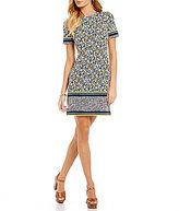 MICHAEL Michael Kors Celia Border Floral Print Shift Dress