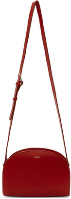 A.P.C. Red Demi-Lune Bag