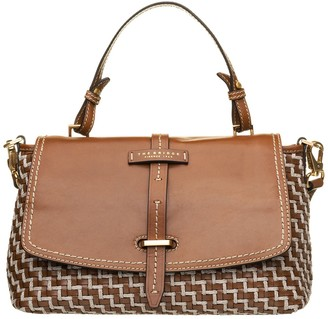 The Bridge Satchel Woven Leather Bag