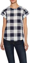 Trovata Women's Cotton Print A-Line Blouse