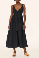 Mara Hoffman Lace Up Midi Dress