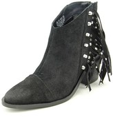 Fergie Bennie Women Pointed Toe Suede Black Ankle Boot.
