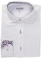 Isaac Mizrahi Contrast Trim White Shirt (Toddler & Little Boys)