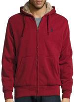 USPA U.S. Polo Assn. Long-Sleeve Full-Zip Sherpa Hoodie