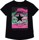 Converse Girls' In The Clouds Printed T-Shirt, Black