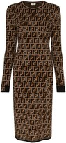 Thumbnail for your product : Fendi FF motif knitted dress