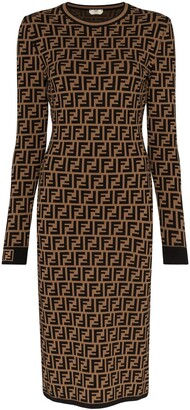 Fendi FF motif knitted dress