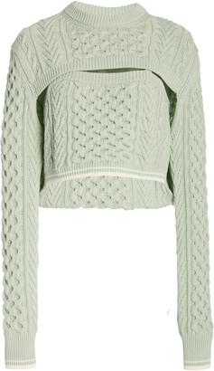 Rosie Assoulin Thousand-In-One-Ways Wool-Cotton Sweater