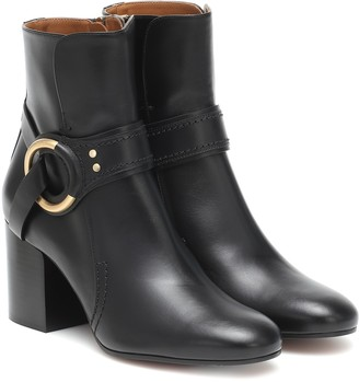Chloé Leather ankle boots