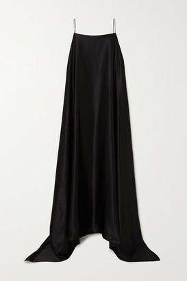 BERNADETTE Meredith Silk-satin Maxi Dress - Black