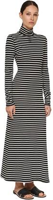 Loewe Stripe Printed Cotton Jersey Long Dress
