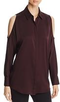 Donna Karan Cold-Shoulder Blouse