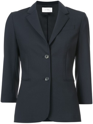 The Row Classic 3/4 Sleeve Single-Breasted Blazer