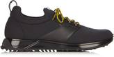 Fendi Low-top neoprene and leather trainers