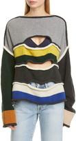Eckhaus Latta Cutout Merino Wool Blend Sweater