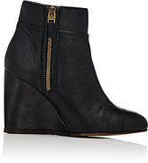 Lanvin WOMEN'S CAP-TOE WEDGE ANKLE BOOTS-BLACK SIZE 5