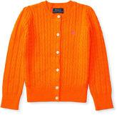 Ralph Lauren 2-6X Mini-Cable Cotton Cardigan