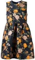 MSGM floral print jacquard dress