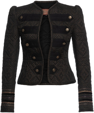 Lena Hoschek Folklore Ribbon-Detailed Cotton Jacquard Military Jacket