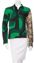 Dries Van Noten Silk Embellished Blouse