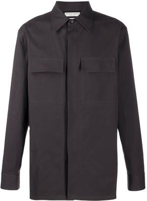 Bottega Veneta Contrasting Panels Long-Sleeved Shirt