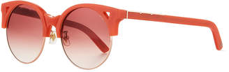 Pared Eyewear Up & At Em Semi-Rimless Round Sunglasses, Coral
