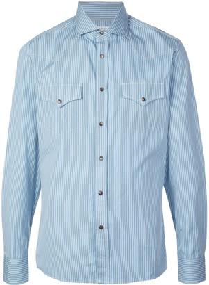 Brunello Cucinelli Striped Long-Sleeve Shirt