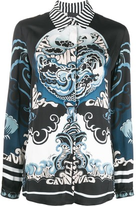 Just Cavalli Abstract-Print Shirt