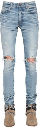 Amiri 15CM TRASHER MINIMAL COTTON DENIM JEANS