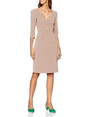 Pinko Women's Giacomo Abito Crepe Stretch Dress, (Rosa Mogano Q35)