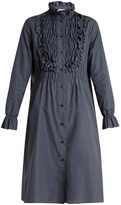 See by Chloe Smocked-detail cotton dress