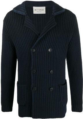 Etro Double-Breasted Knit Cardigan