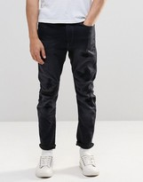 G Star G-Star Jeans Type C 3D Super Slim Fit Superstretch Dark Gray Restored 63