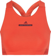 adidas by Stella McCartney The Hiit Cutout Printed Stretch Sports Bra - Bright orange