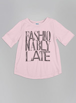 Junk Food Clothing Kids Girls Fashionably Late Tee-iris-l