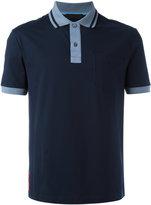 Prada contrast collar polo shirt - men - Cotton/Spandex/Elastane - S