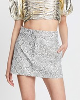 Georgia Alice Snake Mini Skirt