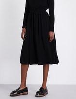 Claudie Pierlot Style crepe midi skirt