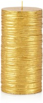 Bloomingdale's Gold Pillar Candle - 100% Exclusive
