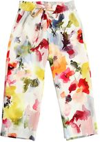 Simonetta Floral Printed Crepe Pants