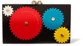 Charlotte Olympia Mechanical Pandora Perspex Clutch - Black