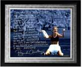 "Steiner Sports Brandi Chastain 1999 World Cup Game-Winning Penalty Kick Facsimile 16"" x 20"" Framed Metallic Story Photo"