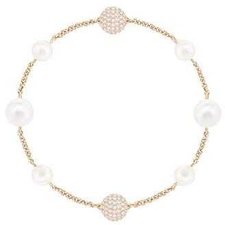 Swarovski Women's White Rose-gold tone plated Remix Collection Round Pearl Strand 5365738