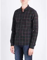 The Kooples Tartan-pattern Slim-fit Cotton Shirt